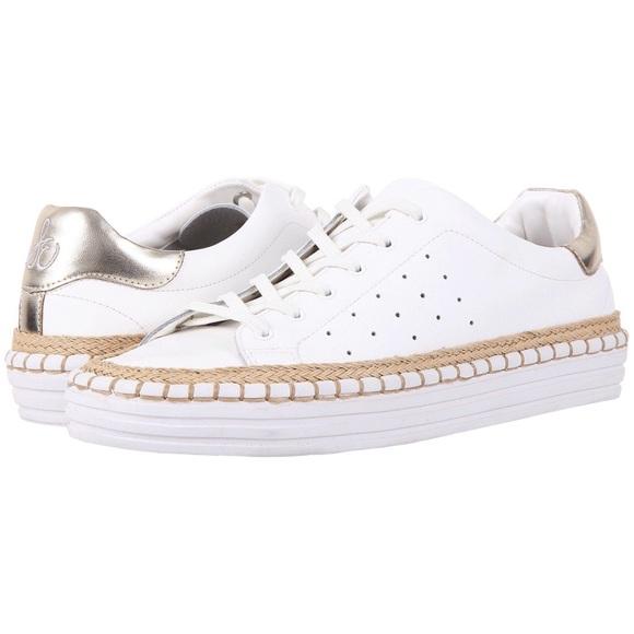 12a7761a2bbf Sam Edelman Kavi White Sneakers 6.5. M 5a77619eb7f72b6e6b8d4749